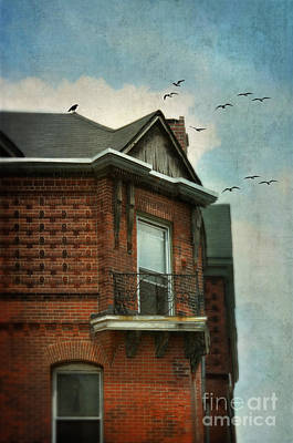 Photograph - Balcony On Old Brick Building by Jill Battaglia