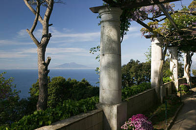 Balcony Overlooking The Sea, Villa San Print by Panoramic Images
