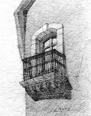 Balcony. Art Print
