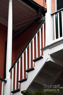 Photograph - Balcony Stairs by John Rizzuto