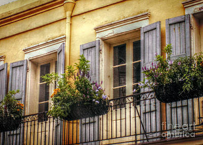 French Quarter Balcony Art Print by Valerie Reeves