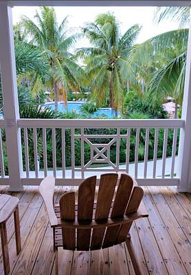 Photograph - Balcony View Florida Keys by Jane Girardot