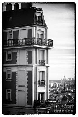 Photograph - Balcony View In Montmartre by John Rizzuto