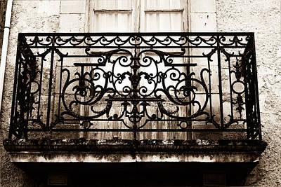 Balcony Window In South West France - Toned Art Print