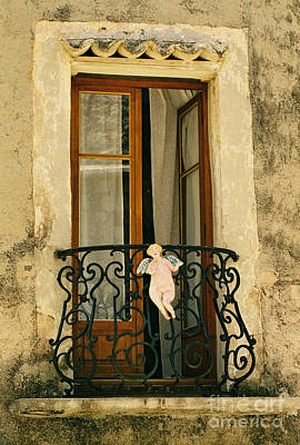 Angels.window Photograph - Balcony With Angel, France by Holly C. Freeman