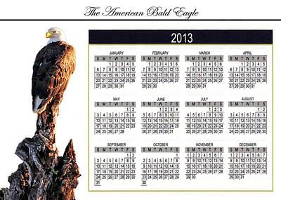 2013 Calendar Photograph - Bald Eagle Desk Clendar by Randall Branham