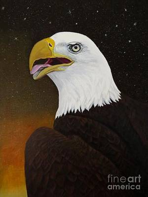 Bald Eagle Original by Zina Stromberg