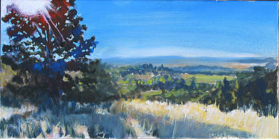 Corvallis Painting - Bald Hill 8am by Rob Fitzsimmons