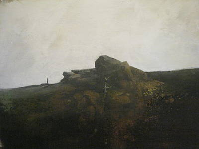 Abstract Realist Landscape Painting - Bald Knob by Darryl Steele