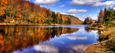 Bald Mountain Photograph - Bald Mountain Pond In The Adirondack Mountains by David Patterson