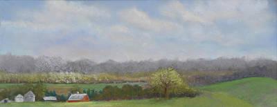 Pastel - Balducci Valley Late Afternoon by Lorraine McFarland