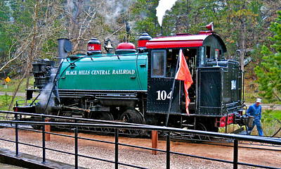 Photograph - Baldwin 2-6-2t Tank Locomotive - Black Hills Central Railroad by Michele Myers