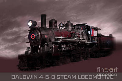 Photograph - Baldwin 4-6-0 Steam Locomotive by Gunter Nezhoda
