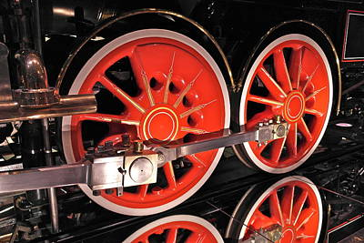 Photograph - Virginia And Truckee No 13 Baldwin Locomotive Works Philadelphia Engine Wheel Detail by Michele Myers