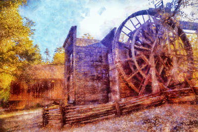 Digital Art - Bale Grist Mill by Kaylee Mason