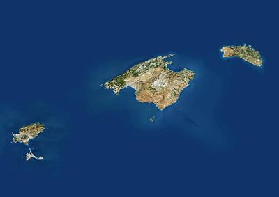 Balearic Islands Art Print by Planetobserver/science Photo Library