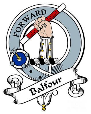 Balfour Clan Badge Art Print by Heraldry