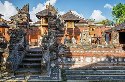 Naga Photograph - Bali, Indonesia Family Hindu Temple by Charles O. Cecil