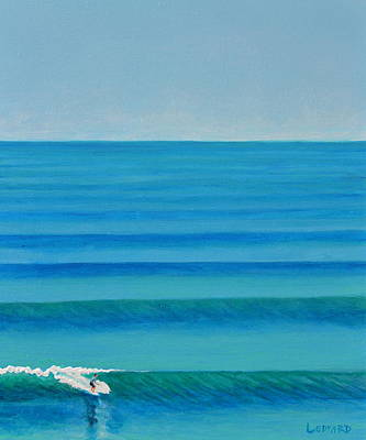 Water Painting - Bali Lines by Nathan Ledyard