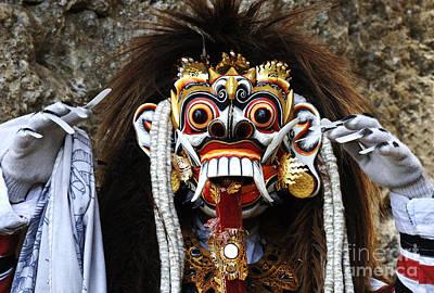 Photograph - Bali Traditional Berong Mask by Bob Christopher
