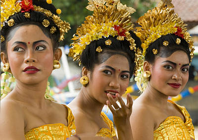 Ornate Photograph - Balinese Dancers by David Smith