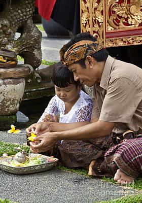 Photograph - Balinese Father And Daughter  by Craig Lovell
