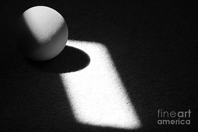 Photograph - Ball Abstract Black And White Horizontal by Karen Adams