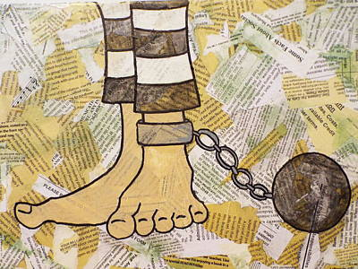 Ball And Chain Mixed Media - Ball And Chain by Stefanie Silva