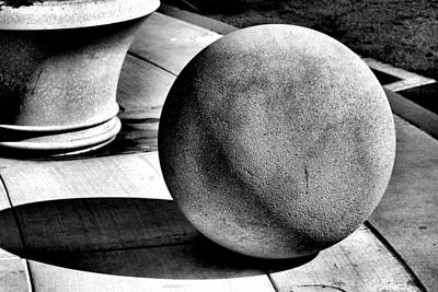 Photograph - Ball And Planter by Bob Wall