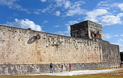 Photograph - Ball Court Wall In Chichen Itza by Charline Xia