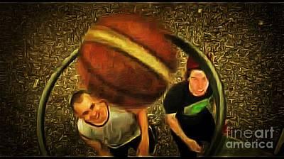 Ball In A Basket Art Print