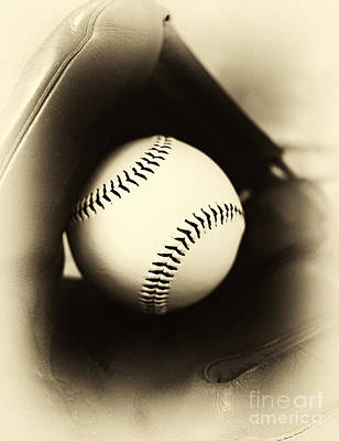 Photograph - Ball In Glove by John Rizzuto