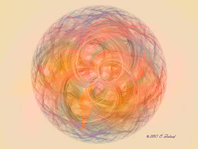 Digital Art - Ball Of Calm by Elizabeth S Zulauf
