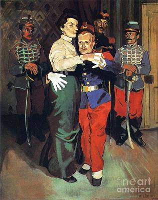 Ball Of Soldiers In Suresnes Art Print by Pg Reproductions