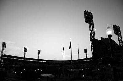 Ball Park Silhouette Art Print by Paul Scolieri