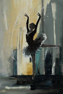 Painting - Ballerina 18 by Mahnoor Shah