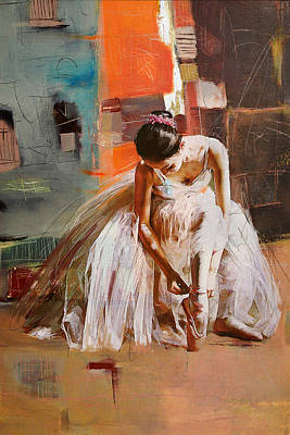 Ballet Dancer Painting - Ballerina 20 by Mahnoor Shah