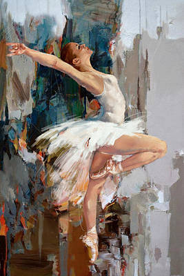 Ballet Dancer Painting - Ballerina 22 by Mahnoor Shah