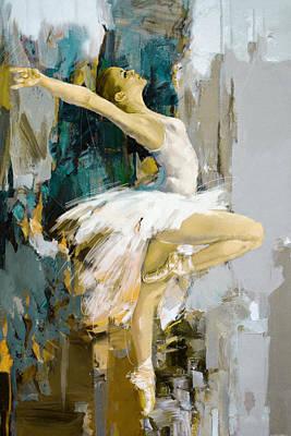 Painting - Ballerina 23 by Mahnoor Shah