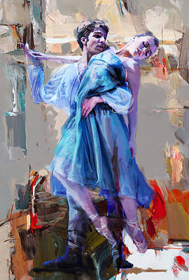 Man And Women Painting - Ballerina 37 by Mahnoor Shah