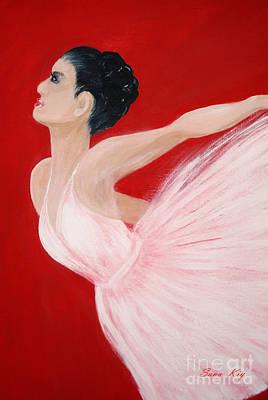 Painting - Ballerina. Card by Oksana Semenchenko