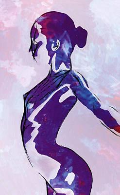 Ballerina Dreaming Art Print by Steve K