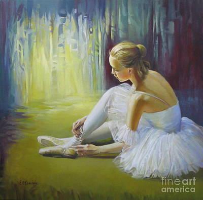 Ballerina Art Print by Elena Oleniuc