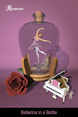Ballerina In A Bottle - Heaven Art Print by Alfred Price