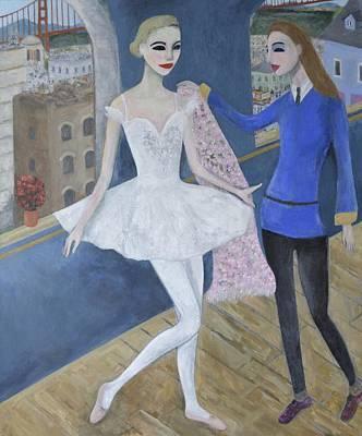 Ballerina In Costume Fitting Studio San Francisco Art Print by Alex De Court