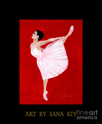 Painting - Ballerina. Inspirations Collection. Art By Sana Kiy by Oksana Semenchenko