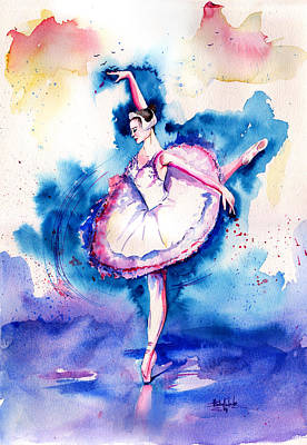 Surrealistic Painting - Ballerina by Isabel Salvador