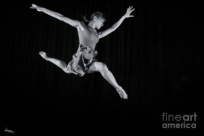 Dancers Photograph - Ballerina Leaping. by T Lang