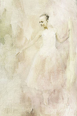 Art Print featuring the painting Ballerina by Linda Blair