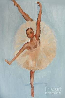 Art Print featuring the painting Ballerina by Marisela Mungia